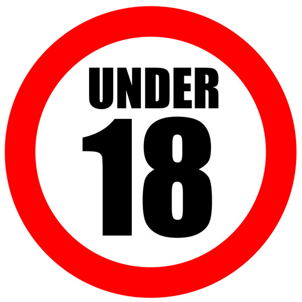 over 18 only sign